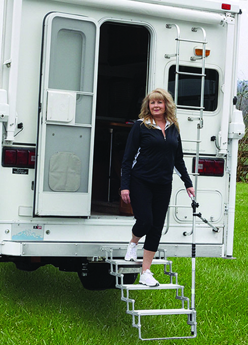 2. Allows for safe entry and exit of RV