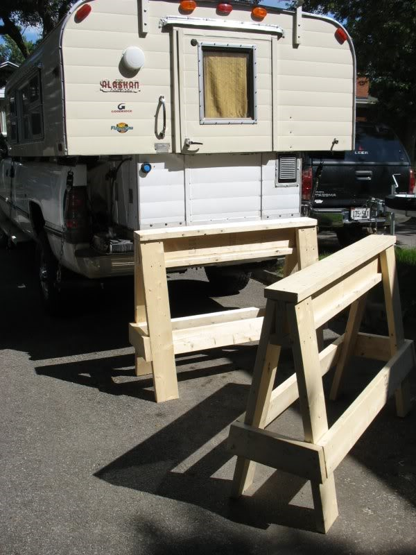 Truck Camper The Potential Issues Of DIY Sawhorses