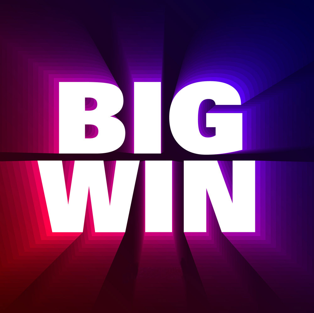 big win banner background for lottery or casino vector 18496211