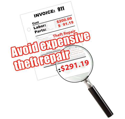 AVOID EXPENSIVE THEFT REPAIR